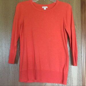 3/4 Sleeve Lightweight Pumpkin Orange Sweater